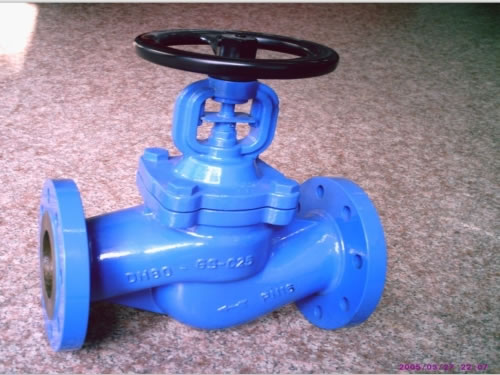 DIN Flanged Cast Steel Bellows Seal Globe Valve