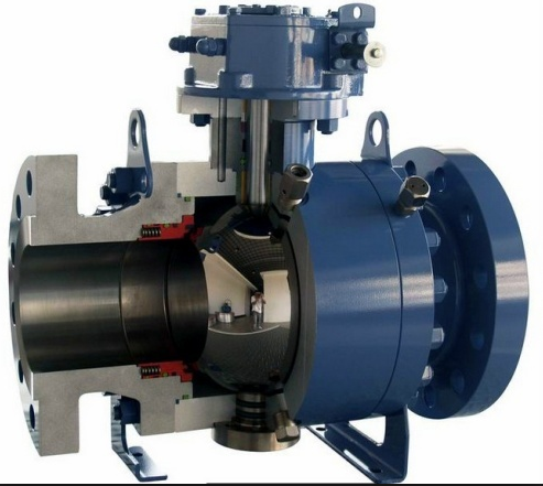 12 Inch Trunnion Mounted Ball Valve , API6D Flanged Reduced Bore Ball Valve