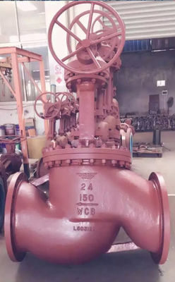 2 Inch - 48 Inch Pressure Seal Globe Valve BS 5352 With Gear Bare Shaft