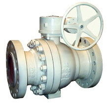 WCB Body Trim Trunnion Ball Valve R - PTFE Seat Gear With 300LB Pressure