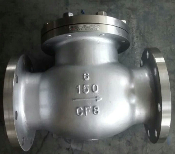 Cast Carbon Steel Check Valve BB Duplex Renewable Seat Hard Faced With 13 CR Stellite 6