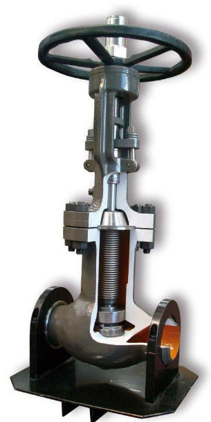 F321 Bellow ANSI Globe Valve With Low Emission Graphite Gland Packing
