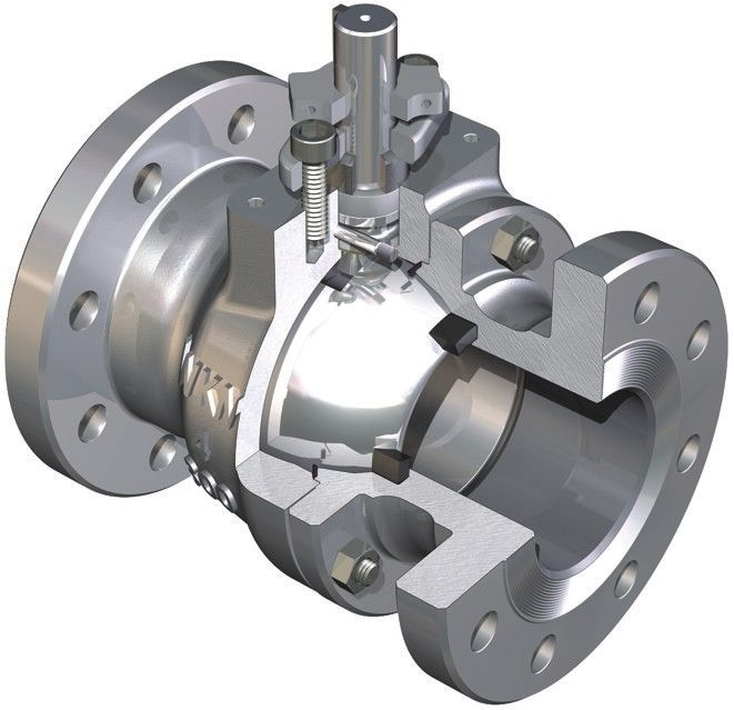 Fire Tested Design Trunnion Mounted Ball Valve Reduces Torque Deep Recessed Seats TFE Body Seal