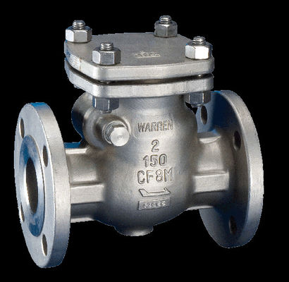 Full Jacketed Check Valve NRV Double Flanged End Stellited Hard Face For Liquid Coal Tar
