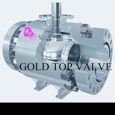 API 6D Split Body Side Entry Ball Valve Trunnion Mounted ASME B16.34