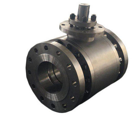 ASTM A216 Trunnion Mounted Flanged Ball Valve Three Pieces