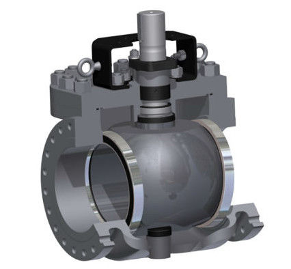 PEEK Seat Top Entry Trunnion Mounted Ball Valve 900LB