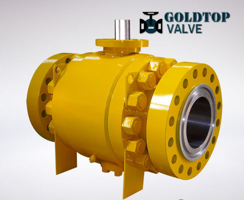 DN50 Floating Trunnion Pneumatic Actuator Ball Valve